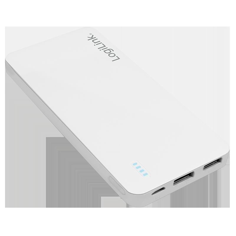 LogiLink :: Produkt Mobile Powerbank, 2x USB Ausgang, 10.000